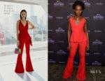 Lupita Nyong'o In Cushnie et Ochs, Gucci & Dolce & Gabbana - 'Black Panther' New York Promo Tour