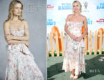 Margot Robbie In Brock Collection - 'Peter Rabbit' LA Premiere