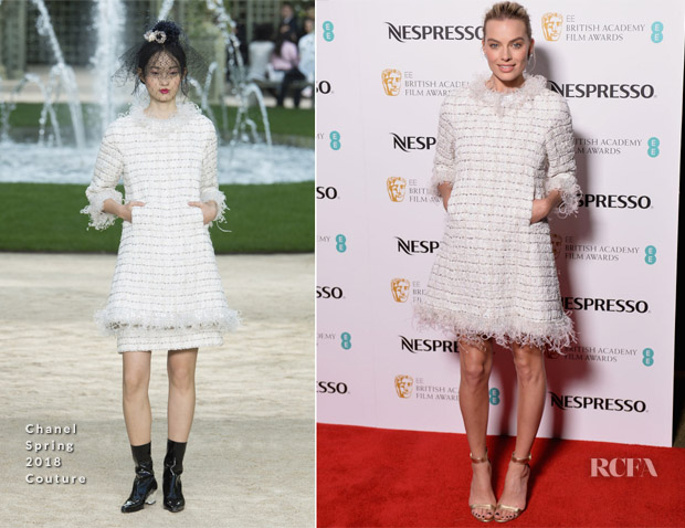 Margot Robbie In Chanel Couture - EE British Academy Film Awards Nominees Party
