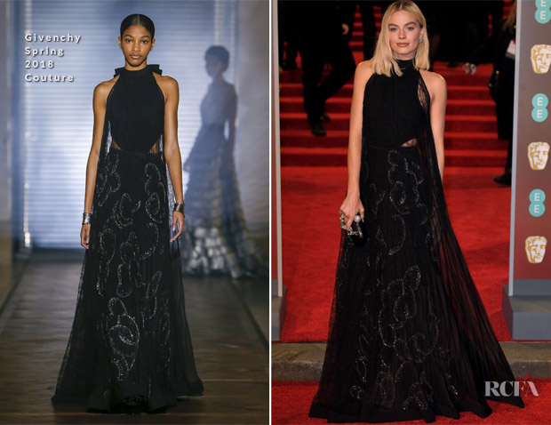 Margot Robbie In Givenchy Couture - 2018 BAFTAs