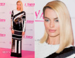 Margot Robbie In Louis Vuitton - 'I, Tonya' London Premiere