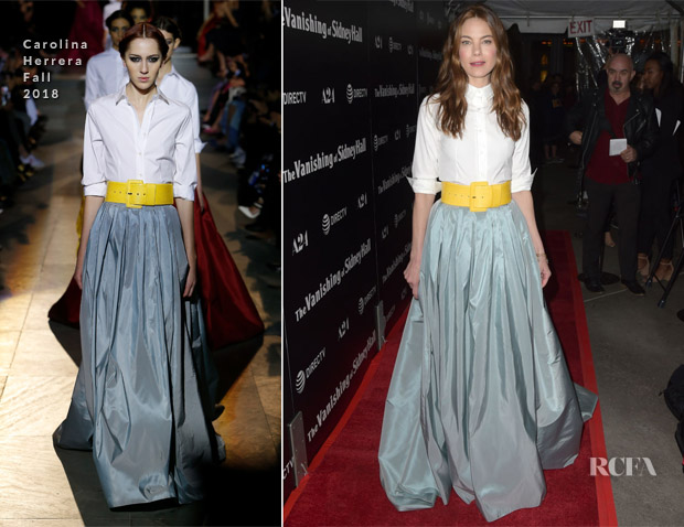 Michelle Monaghan In Carolina Herrera - 'The Vanishing Of Sidney Hall' LA Premiere