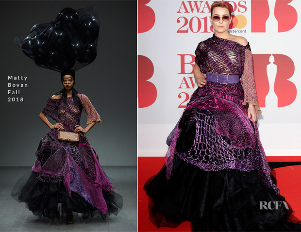 Noomi Rapace In Matty Bovan - The BRIT Awards 2018