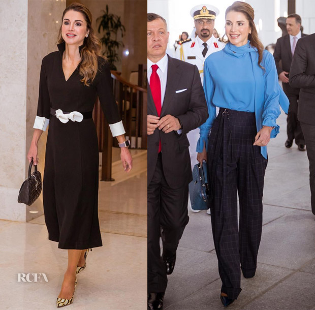 bd1c61e77bc Queen Rania of Jordan recently paid a visit to the United Arab Emirates,  where her refined style was on top form.