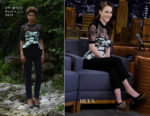 Rachel Brosnahan In Off-White - The Tonight Show Starring Jimmy Fallon
