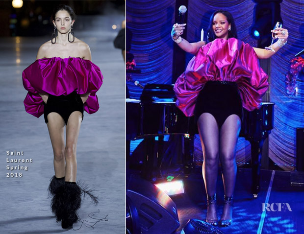 Rihanna In Saint Laurent - 30th Birthday Party