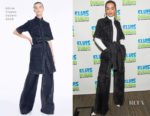 Rita Ora In Adam Lippes, Nicolas Jebran Couture & Prada - SiriusXM & The Tonight Show Starring Jimmy Fallon