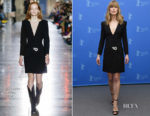 Rosamund Pike In Givenchy & Givenchy Couture -  '7 Days in Entebbe'  Berlinale International Film Festival Photocall & Premiere