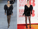 Rosie Huntington-Whiteley In Saint Laurent - The BRIT Awards 2018