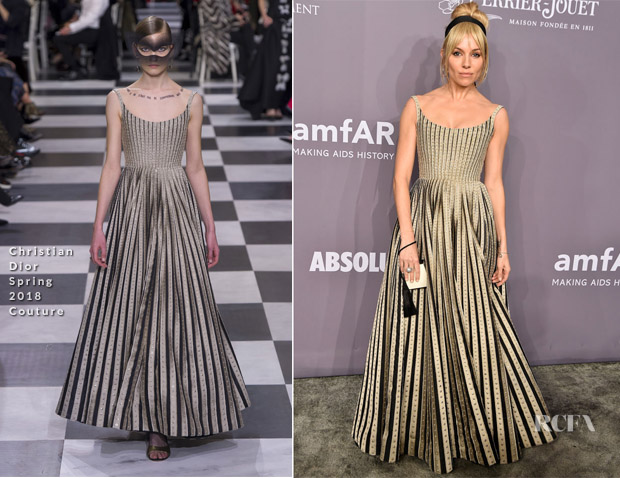 66cc9cc739 Sienna Miller returned to the red carpet for the 2018 amfAR Gala New York  on Wednesday (February 7).