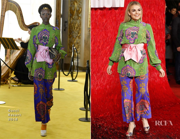 Tallia Storm In Gucci - 'Red Sparrow' London Premiere