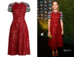 Tatiana Maslany's Mary Katrantzou Robin Sequin-Embellished Dress