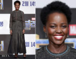 Lupita Nyong'o In Elie Saab & Ralph & Russo - 'Black Panther' Seoul Press Conference and Premiere