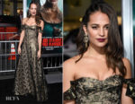 Alicia Vikander In Louis Vuitton - 'Tomb Raider' LA Premiere