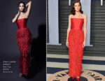 Allison Williams In Jean-Louis Sabaji Couture - 2018 Vanity Fair Oscar Party