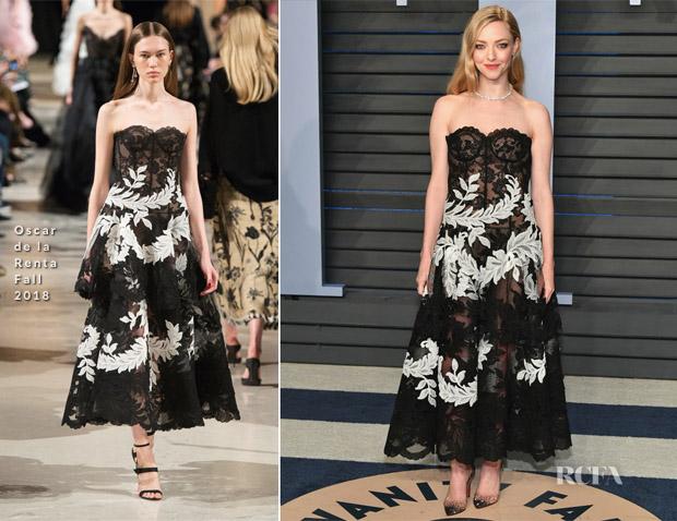 Amanda Seyfried In Oscar De La Renta U2013 2018 Vanity Fair Oscar Party
