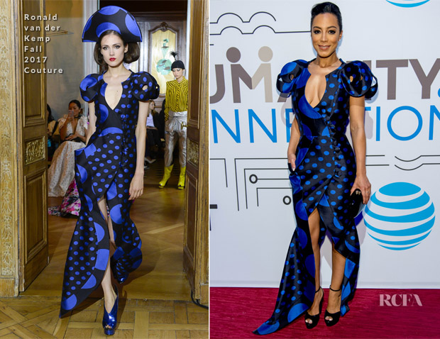 Angela Rye In Ronald van der Kemp Couture - 'The Humanity Of Connection' New York Screening