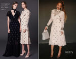 Beyonce Knowles demurely steps into Spring in Temperley London