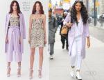 Camila Alves In Alice + Olivia, L'Agence & J Brand - Out In New York