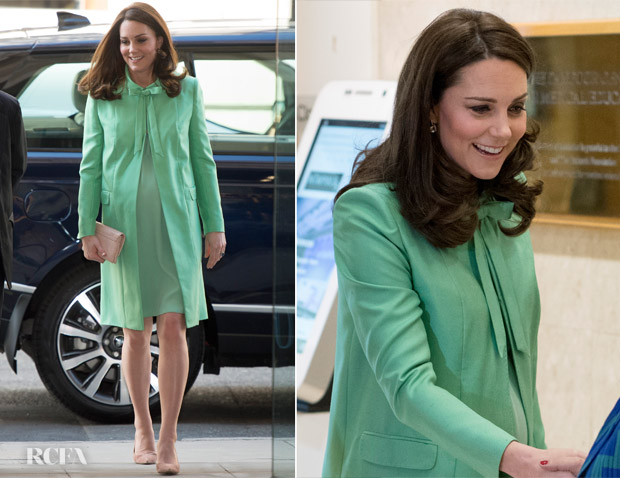 Catherine, Duchess of Cambridge In Jenny Packham - Early Intervention For Children And Families Symposium