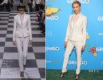 Charlize Theron In Christian Dior Haute Couture - 'Gringo' LA Premiere