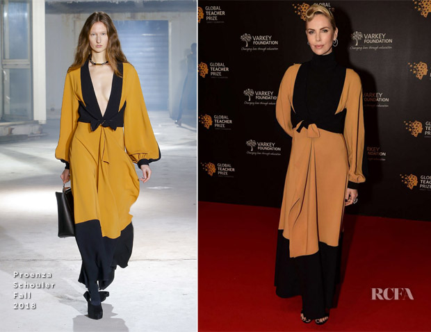 Charlize Theron In Proenza Schouler & Givenchy - Global Teacher Prize 2018 & Global Education and Skills Forum