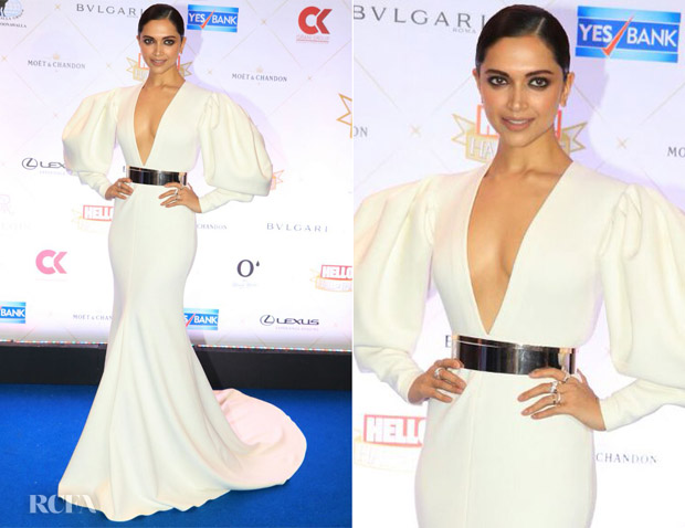 Deepika Padukone In Falguni Shane Peacock - Hello! Hall of Fame Awards