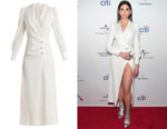 Dua Lipa's Alessandra Rich Hollywood Sable Crystal-Embellished Dress
