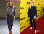 Elle Fanning In Ganni - 'Galveston'  SXSW Festival Premiere