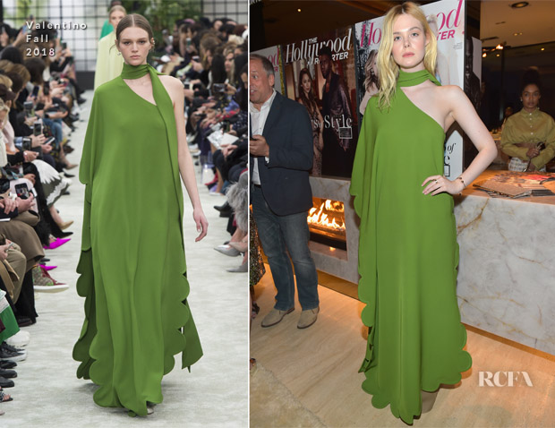 Elle Fanning In Valentino - The Hollywood Reporter And Jimmy Choo Power Stylists Dinner