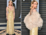 Emma Roberts In Prada - 2018 Vanity Fair Oscar Party