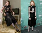 Emma Stone In Givenchy - Women In Film Oscar Nominees Celebration