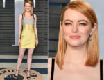 Emma Stone In Louis Vuitton -  2018 Vanity Fair Oscar Party