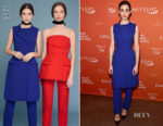 Emmy Rossum In Lela Rose - EMILY's List Pre-Oscars Brunch And Panel