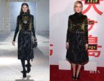Greta Gerwig In Proenza Schouler -  'Isle Of Dogs' New York Screening