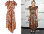 Greta Gerwig's Gucci Bow-Embellished Sequined Gown