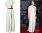 Greta Gerwig's The Row Cilida Asymmetric Gown