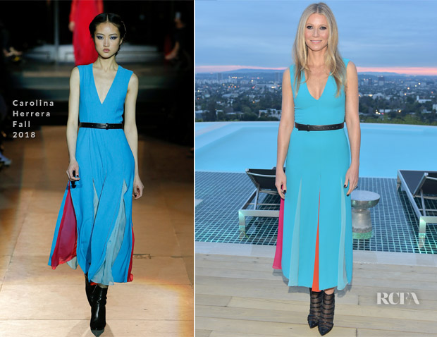 Gwyneth Paltrow In Carolina Herrera - The Hollywood Reporter And Jimmy Choo Power Stylists Dinner