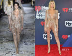 Hailey Baldwin In Zuhair Murad Couture, Alexandre Vauthier Couture, Dundas & Sally LaPointe - 2018 iHeartRadio Music Awards