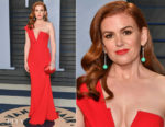 Isla Fisher In Alex Perry - 2018 Vanity Fair Oscar Party