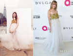 Jaime King In Oscar de la Renta - Elton John's AIDS Foundation Academy Awards Viewing Party