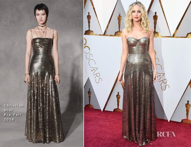 Jennifer Lawrence In Christian Dior - 2018 Oscars - Red Carpet ...