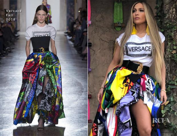 e6fe206ca8d9 Jennifer Lopez is Instaglam in Versace - Red Carpet Fashion Awards