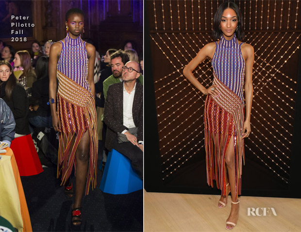 Jourdan Dunn In Peter Pilotto - Atelier Swarovski 10th Anniversary Book Launch