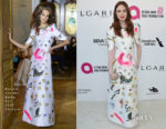 Karen Gillan In Ronald van der Kemp Couture - Elton John's AIDS Foundation Academy Awards Viewing Party