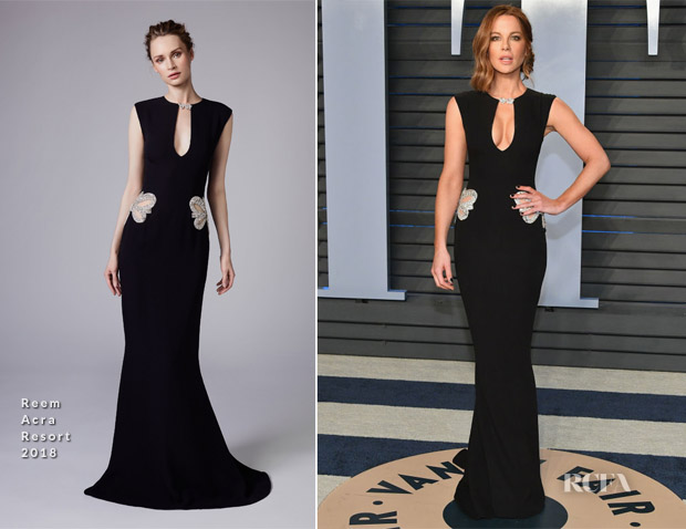 Kate Beckin In Reem Acra 2018 Vanity Fair Oscar Party