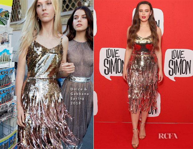 Katherine Langford In Dolce & Gabbana - 'Love, Simon' Sydney Premiere