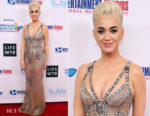 Katy Perry In Atelier Versace - Byron Allen's Oscar Gala Viewing Party