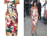 Kerry Washington's Cushnie et Ochs Floral Off-The-Shoulder Dress