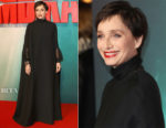 Kristin Scott Thomas In Valentino - 'Tomb Raider' London Premiere